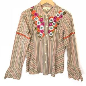 Stetson Embroidered Western Button Down Shirt S